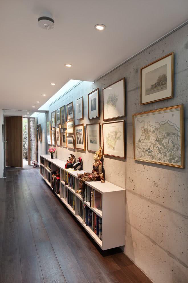 75 ideias de corredores decorados com fotos incr veis - Fotos de pasillos decorados ...