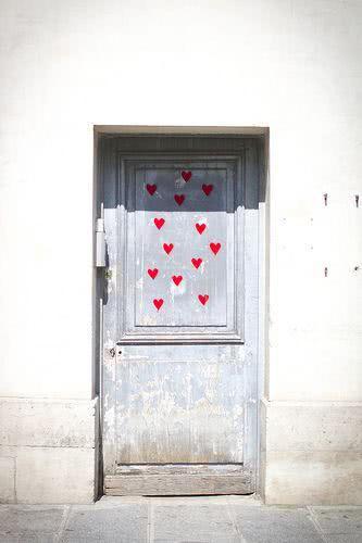 Porta estilo romântico