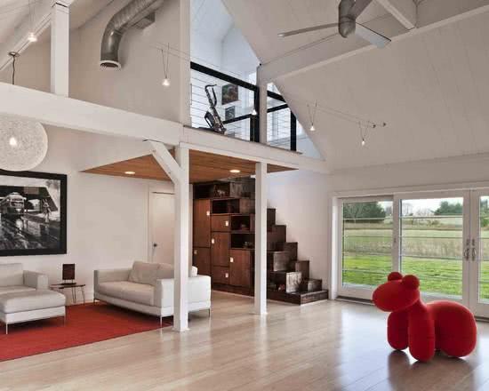 85 modelos de lofts decorados para te inspirar for Casa moderna tipo loft