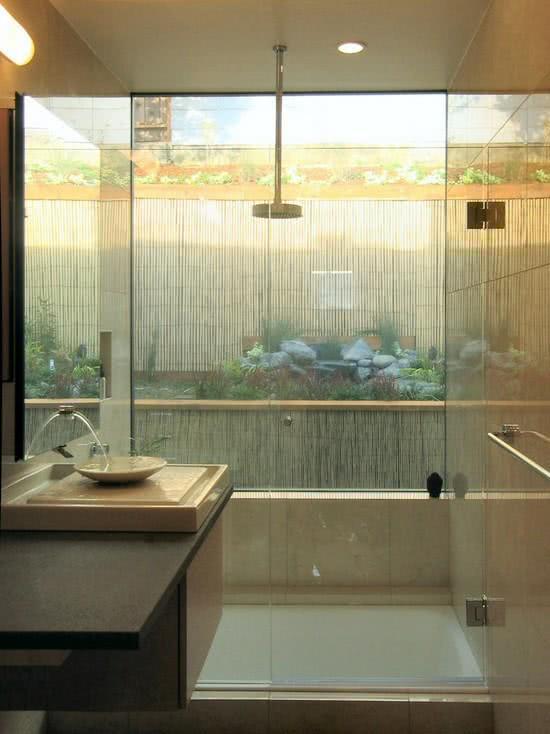 Decorating a small bathroom with no window - Ideias De Projetos Com Cimento Queimado E Concreto Aparente