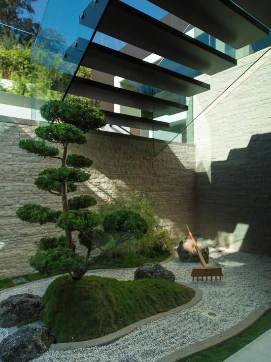 67 ideias de projetos com cimento e concreto aparente for Modern japanese garden designs