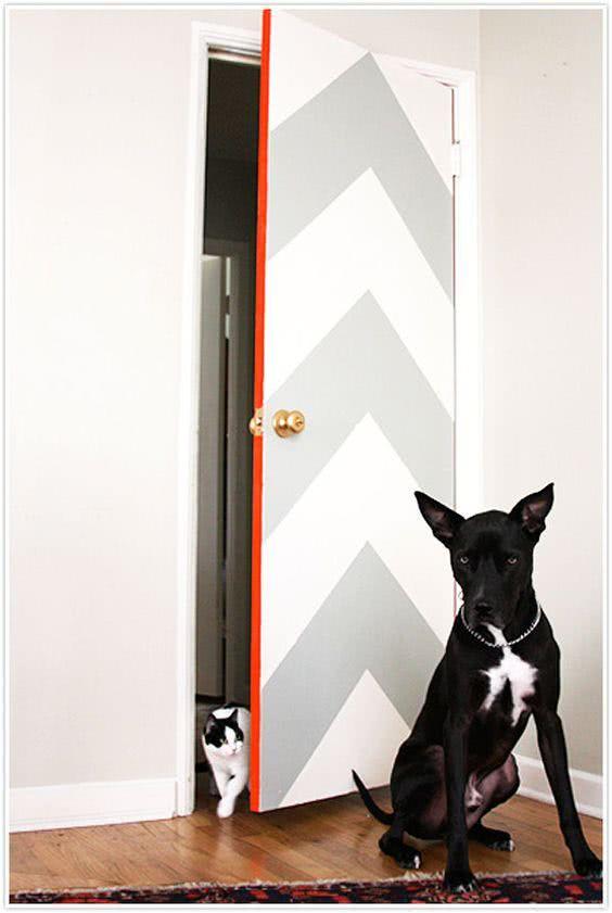 Pinte, decore, faça você mesmo uma porta criativa!