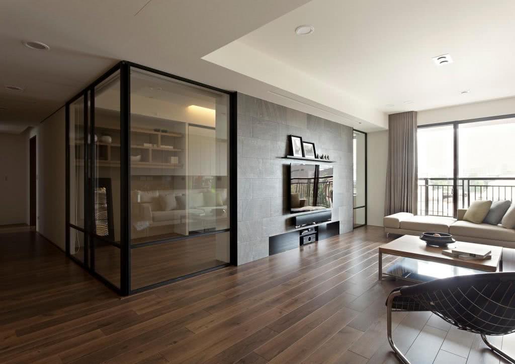 Portas de correr em vidro é ideal em apartamentos pequenos