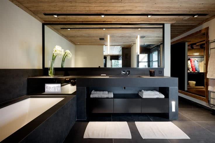 95 modelos de banheiros decorados para te inspirar - Foto moderne dressing ...