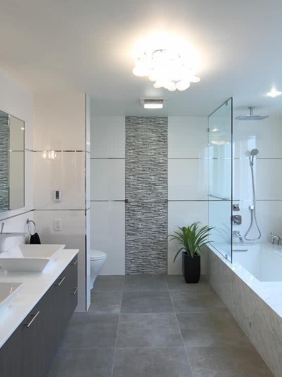 95 modelos de banheiros decorados para te inspirar for Imagenes de pisos decorados