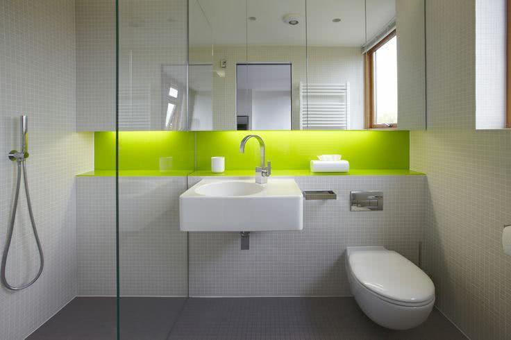 95 Modelos de Banheiros Decorados para te Inspirar -> Nicho De Banheiro Barato
