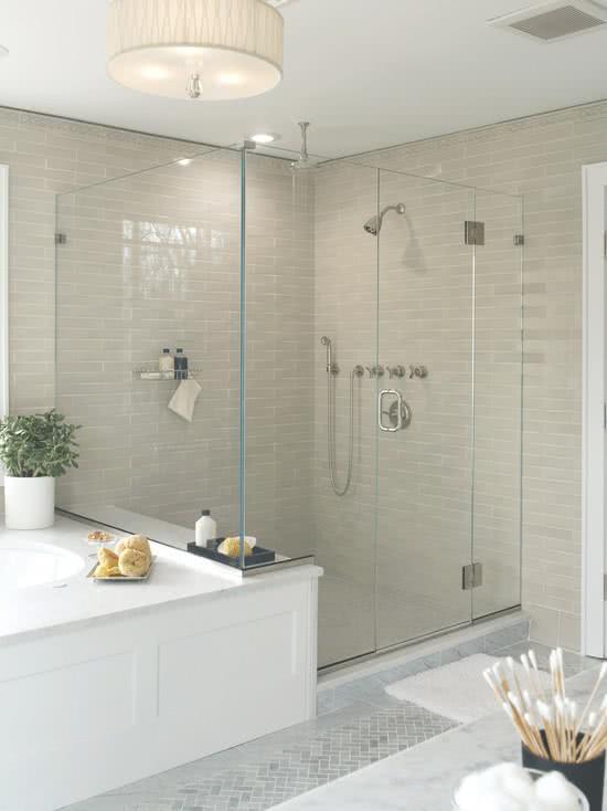80 modelos de banheiros decorados para te inspirar for 5x7 bathroom remodel ideas