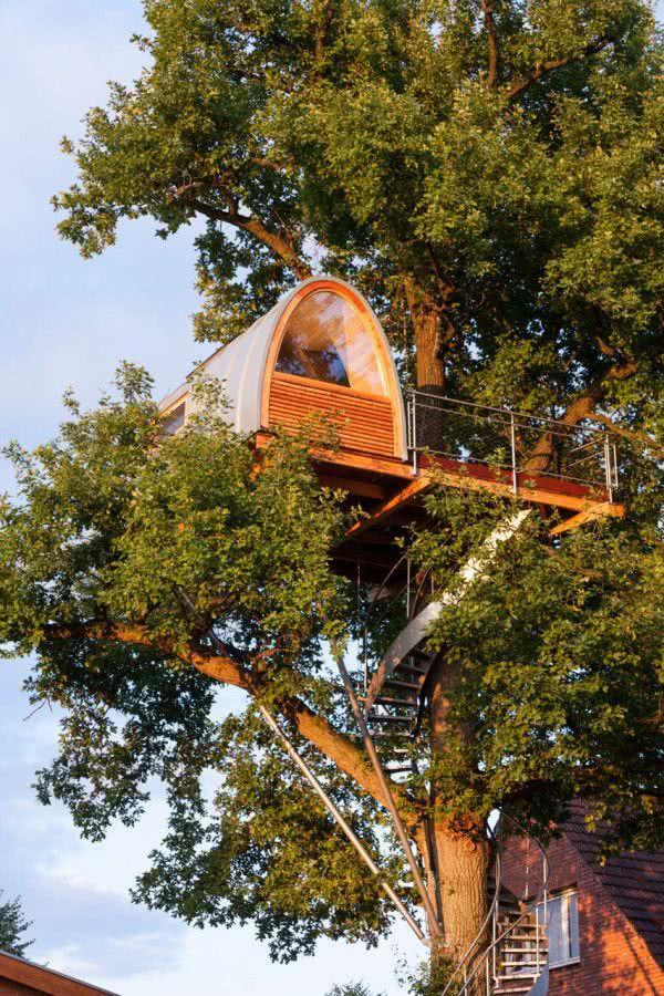 Casa na Arvore em forma de cúpula