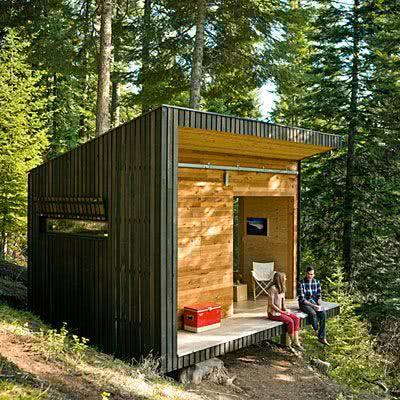 Casa na Arvore em forma de cubo