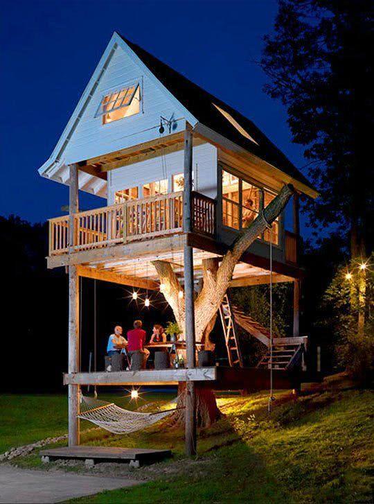 Casa na Arvore de madeira