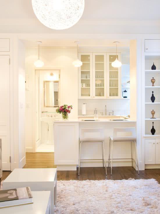 119 cozinhas pequenas modernas planejadas e decoradas - Armarios para sala de estar ...