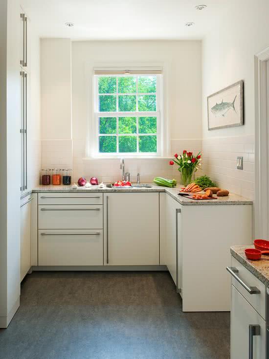 Imagem 61 – Cozinha pequena ideal para jovens que moram sozinho
