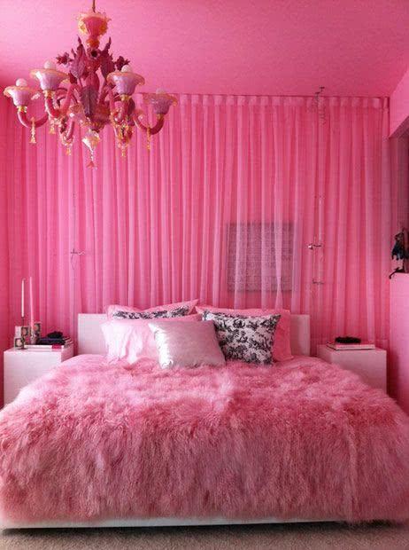 50 Quartos de Patricinha Decorados Incríveis ~ Quarto Rosa Fucsia