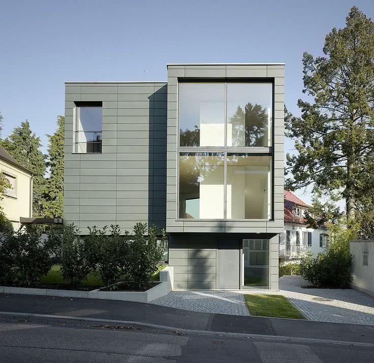 52 fachadas de casas com vidro para te inspirar for Molduras contemporaneas