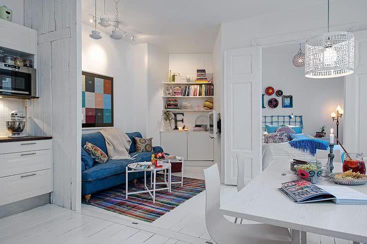 Imagem 13 – Mini loft com pequeno espaço para cama