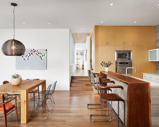 Cozinhas americanas com salas interligadas 85 fotos lindas - Armarios para sala de estar ...