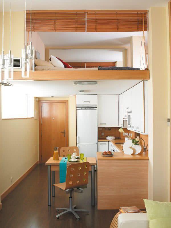 20 apartamentos pequenos decorados incr veis not cias - Loft pequeno ...