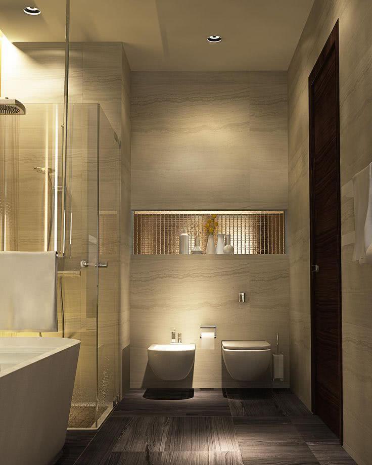 75+ Projetos de Banheiros de Luxo  Fotos -> Banheiro Pequeno E Luxuoso