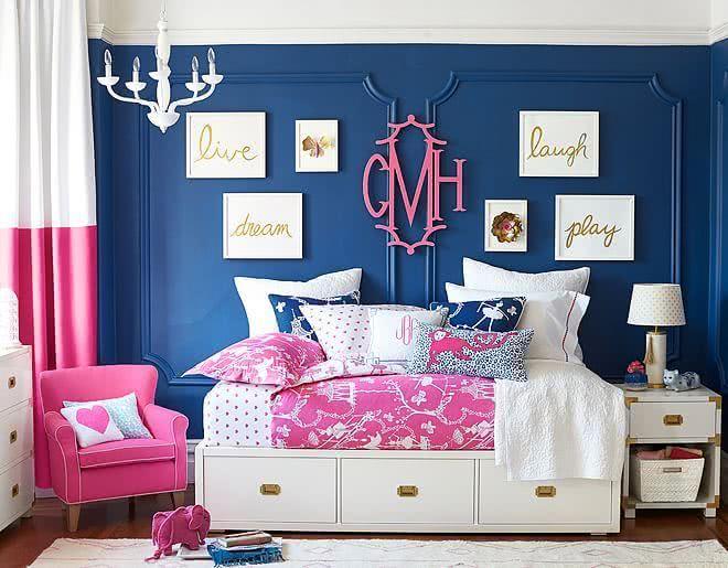 50 Quartos de Patricinha Decorados Incríveis ~ Quarto Rosa E Azul
