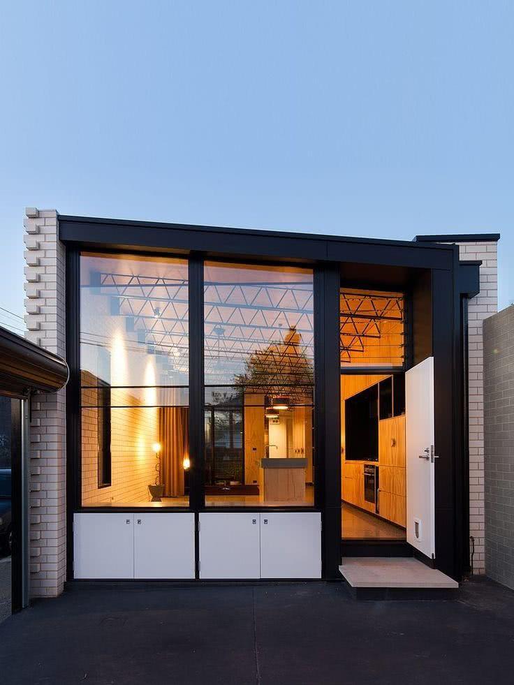 52 fachadas de casas com vidro para te inspirar. Black Bedroom Furniture Sets. Home Design Ideas