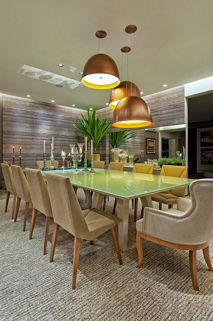 51 Lustres Para Sala De Jantar Formatos E Acabamentos -> Lustre Para Sala De Jantar Dourado