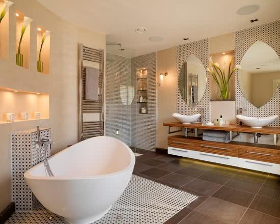 75+ Projetos de Banheiros de Luxo  Fotos -> Banheiro Pequeno De Luxo