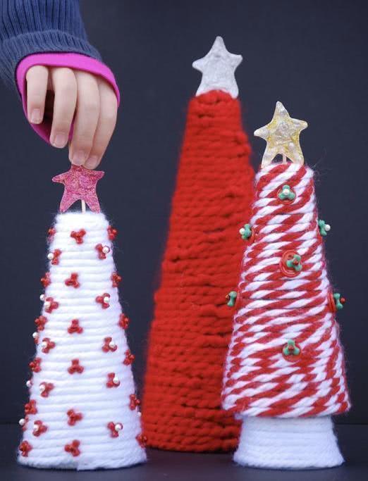 Árvore de Natal de crochê.