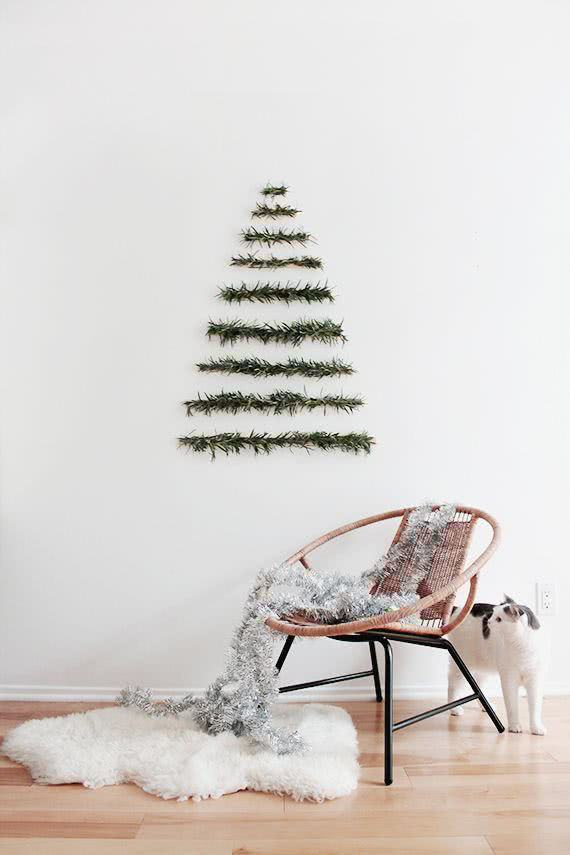 Monte uma árvore de Natal simples e fácil de fazer
