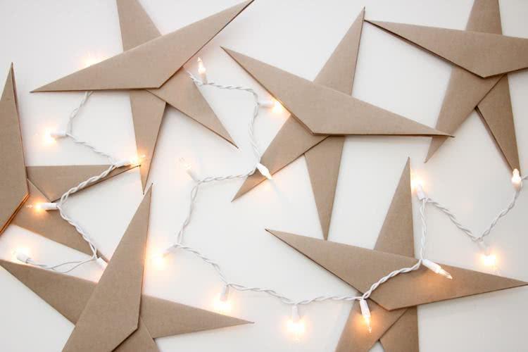 Decoração de Natal de papel.