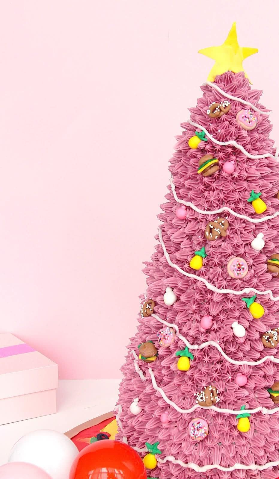 Bolo de Natal decorado.