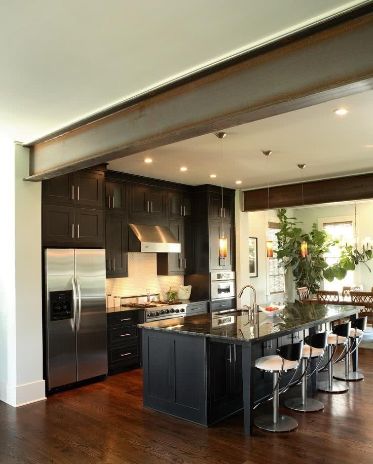 Cozinhas Americanas com Salas Interligadas 85 Fotos Lindas # Cozinha Com Ilha E Sala Integrada