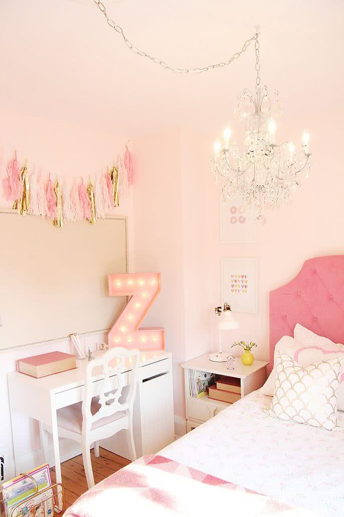 98 quartos de princesa decorados e inspiradores - Nice bedroom colors for girls ...