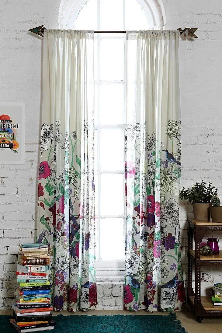 41 cortinas para salas de estar com diferentes cores - Tela para cortina ...