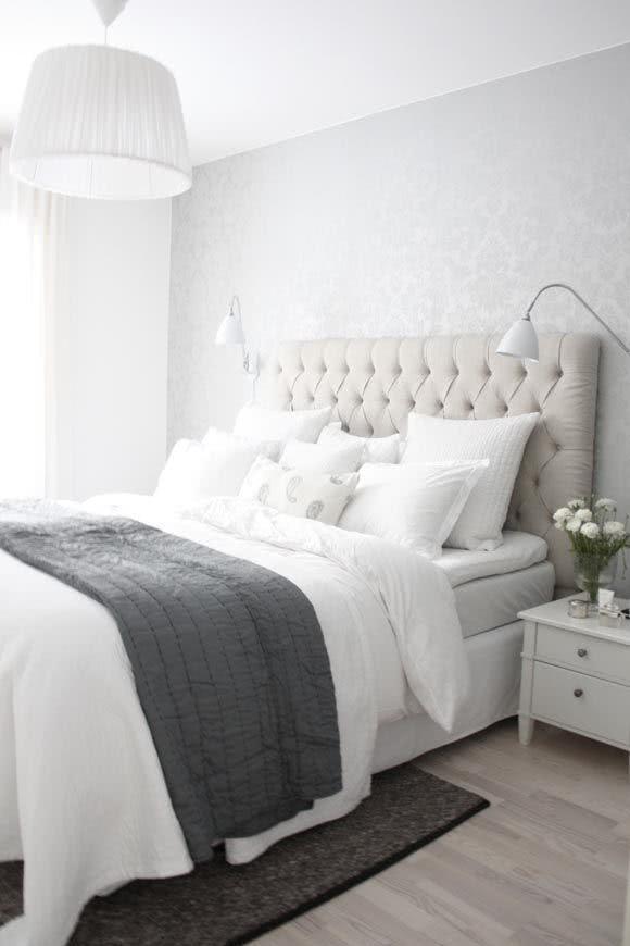 50 cabeceiras de camas decoradas para inpirar fotos. Black Bedroom Furniture Sets. Home Design Ideas