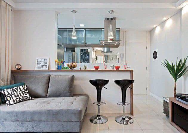Cozinhas americanas com salas interligadas: 85 projetos incríveis para conferir