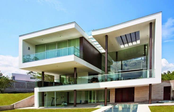 52 fachadas de casas com vidro para te inspirar - Fachadas grandes ...