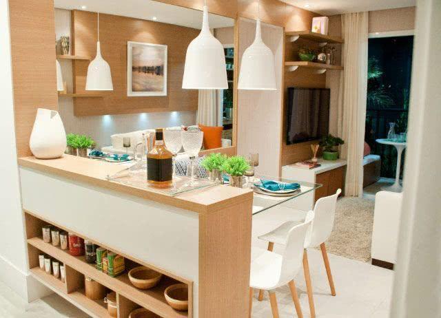 Sala De Jantar Lojas Americanas ~ 59 cozinha de madeira integrada a sala de jantar e tv