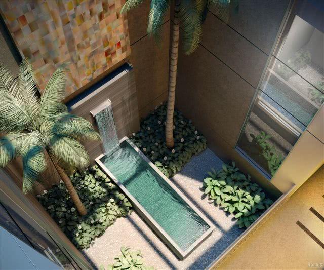 Jardim de Inverno  49 Modelos, Decoração e Plantas -> Banheiro Pequeno Com Jardim De Inverno