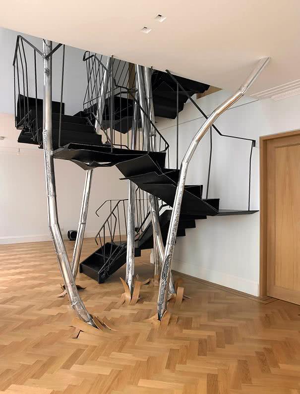 50 modelos de escadas internas diferentes e criativas for Escaleras para casa chica