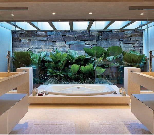 fotos de jardim interno : fotos de jardim interno:Jardim de Inverno – 49 Modelos, Decoração e Plantas