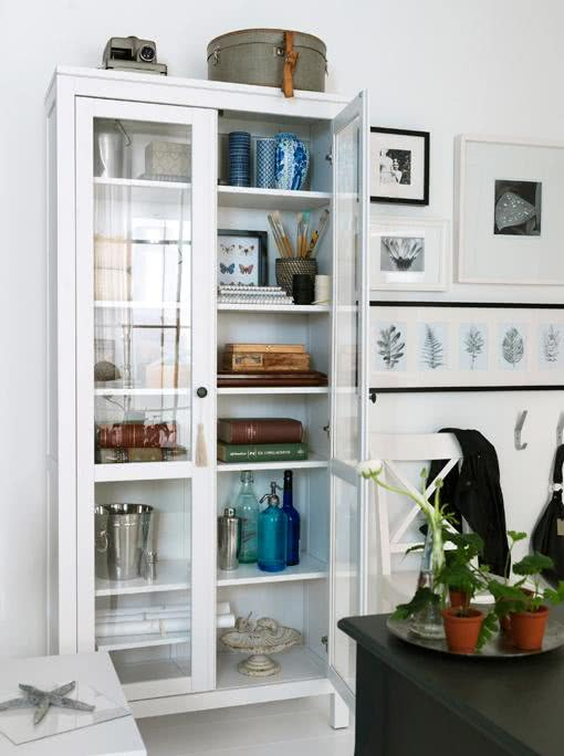 95 cristaleiras de vidro modernas antigas e mais - Ikea vitrinas comedor ...