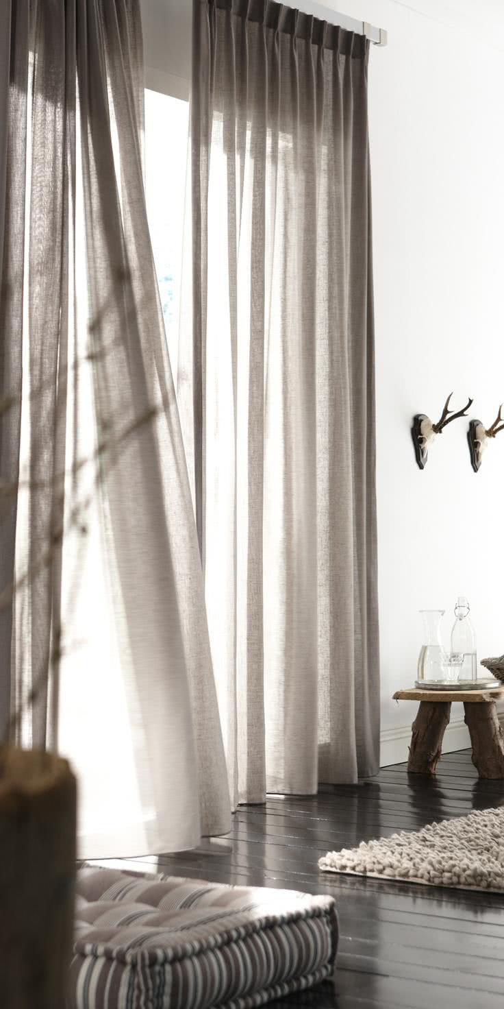 41 cortinas para salas de estar com diferentes cores - Tende sala moderna ...