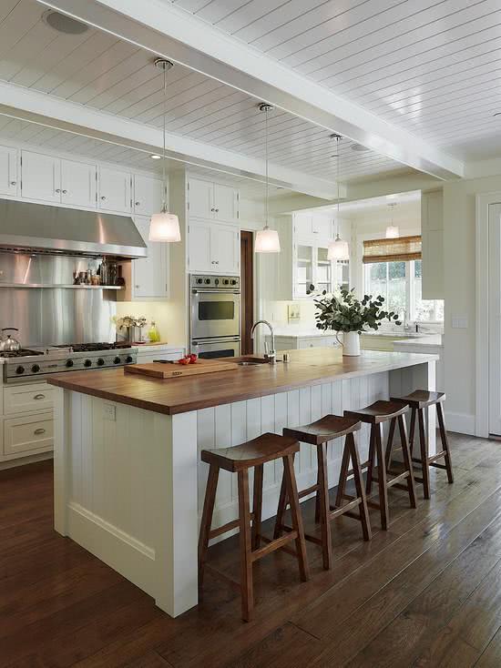 Cozinhas Americanas Com Salas Interligadas 85 Fotos Lindas