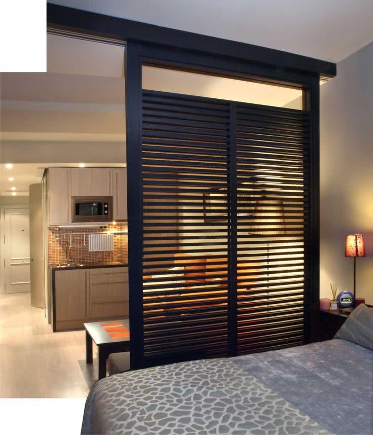 85 apartamentos pequenos decorados incr veis - Separation de piece amovible ikea ...