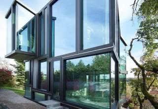 Fachadas de casas com vidro