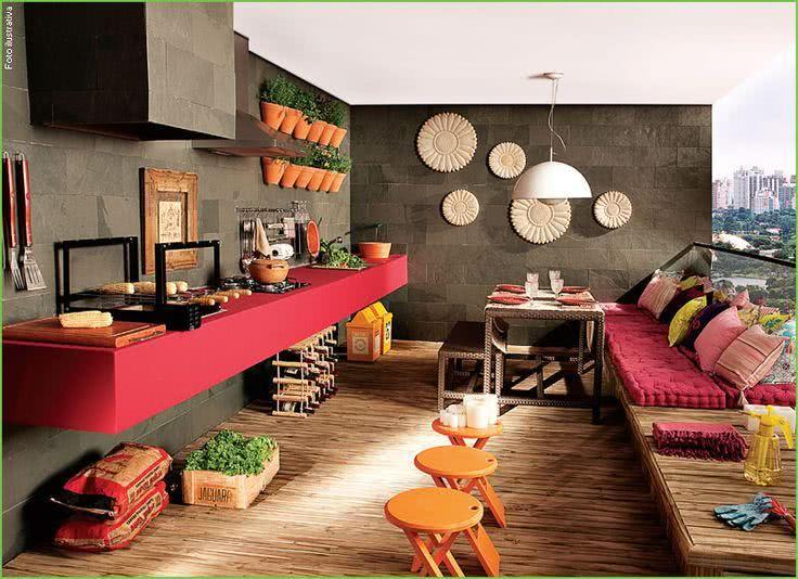 Decoracao Sala Pequena Com Varanda ~ Uma proposta diferente de decoração de varanda com elementos