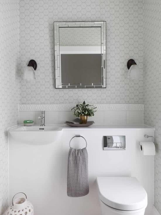 56 projetos de lavabos pequenos decorados fotos for Fotos lavabos