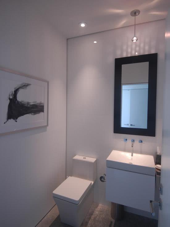 56 projetos de lavabos pequenos decorados fotos for Azulejos para lavabos
