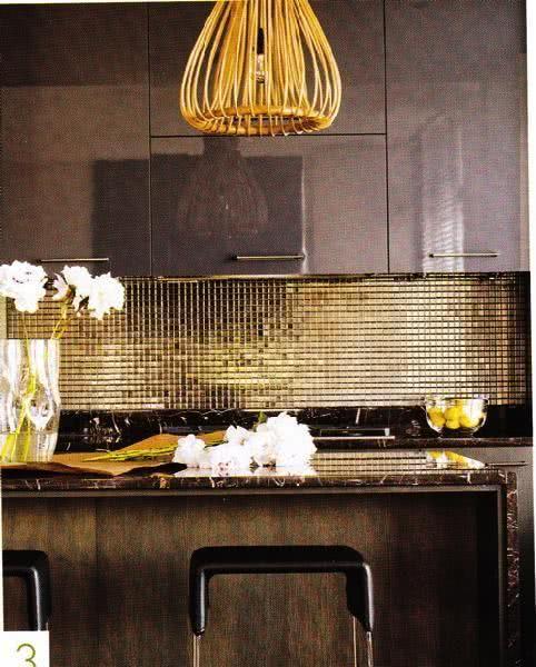 85 cozinhas decoradas com pastilhas fotos e aplica es. Black Bedroom Furniture Sets. Home Design Ideas
