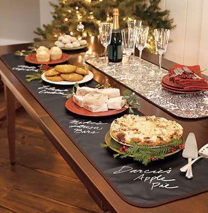 Decoração de mesa de jantar para amigos
